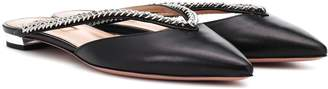 Aquazzura Sabine leather slippers
