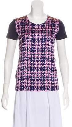 Prada Embellished Short Sleeve T-Shirt