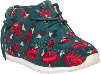 AKID Stone Leopard Lips Suede Moccasin