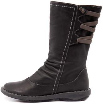 Effegie Subali-w Black Boots Womens Shoes Comfort Long Boots