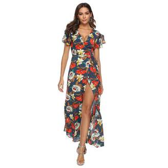 1b800c795db Bohemia BOLUOYI 2019 Midi Dresses for Women Summer Formal