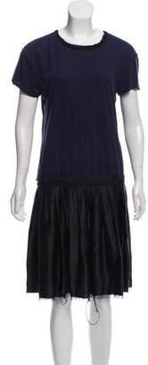 Lanvin Silk-Blend T-Shirt Dress