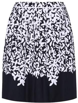 Oscar de la Renta Printed cotton skirt