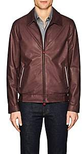 Kiton MEN'S NAPPA LEATHER BOMBER JACKET