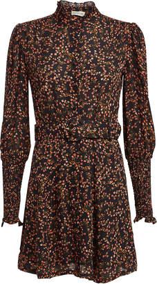 Nicholas Persimmon High Neck Georgette Mini Dress
