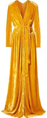 Bottega Veneta Cutout Velvet Maxi Dress - Yellow