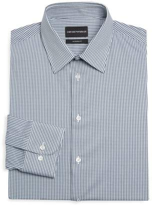Emporio Armani Modern Fit Check Dress Shirt