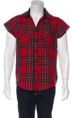 Fear Of God Wool-Blend Zip-Accented Longline Flannel Shirt