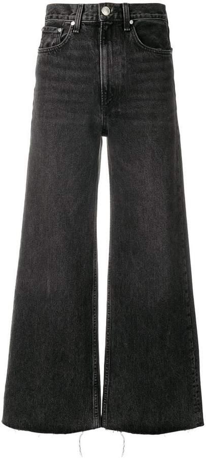 frayed palazzo jeans