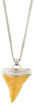 Givenchy Two-Tone Shark Tooth Pendant Necklace