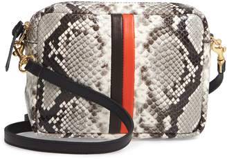 Clare Vivier Midi Sac Python Embossed Leather Crossbody Bag
