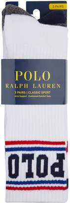 Polo Ralph Lauren Logo Socks (Pack of 3)
