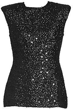 Dries Van Noten Women's Short Sleeve Beaded Evening Top