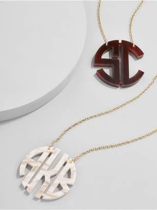 BaubleBar Acrylic Block Monogram Necklace