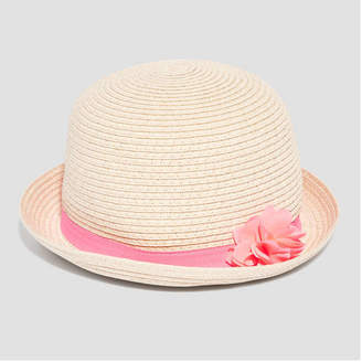 Joe Fresh Toddler Girls Flower Straw Fedora