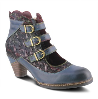 Spring Step L'Artiste by Open-Front Leather Booties - Dorrie