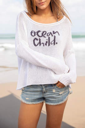Wooden Ships Ocean Child Sweater