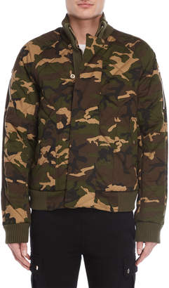 Balmain Camouflage Quilted Bomber Jacket