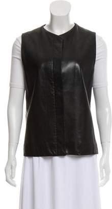 The Row Sleeveless Leather Vest