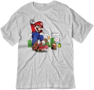 Ash BSW YOUTH Super Mario Goomba Squish Harsh Shirt MED Grey