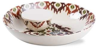 tag Ikat Melamine Chip & Dip 3-Piece Set