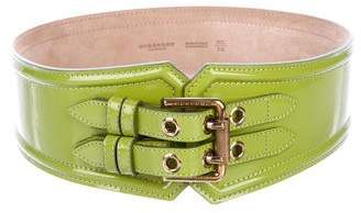 Burberry Patent Leather Waist Belt