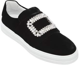 Roger Vivier 20mm Sneaky Viv Velvet Sneakers
