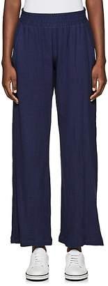 Barneys New York WOMEN'S COTTON SEERSUCKER WIDE-LEG PANTS