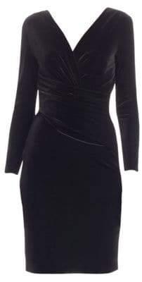 Emporio Armani Velvet Wrap-Front Dress