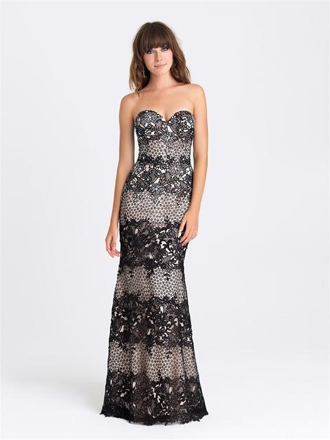 Madison James - 16-323 Dress in Black Nude