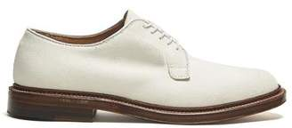Alden White Buck Plain Toe Blucher