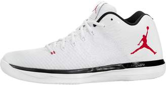 Jordan Nike Men's Air XXXI Low White/University Red/Black Basketball Shoe 10.5 Men US