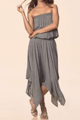 Elan International Grey Strapless Dress