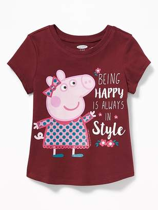 "Old Navy Peppa Pig ""Being Happy Is Always In Style"" Tee for Toddler Girls"