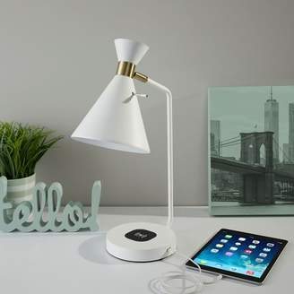 west elm Cylinder Charging Table Lamp + USB