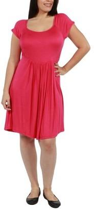 24/7 Comfort Apparel Lillian Plus Size Dress