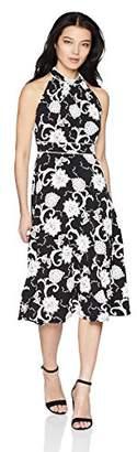 Sandra Darren Women's Petite 1 PC Sleeveless ITY Textured Puff Midi Dress