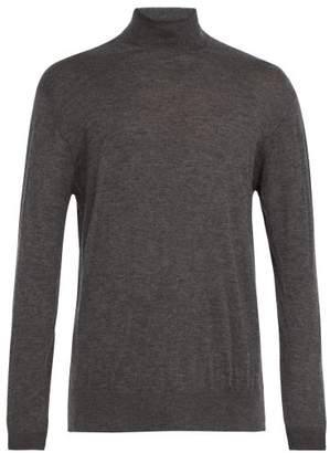 Raey Roll Neck Fine Cashmere Sweater - Mens - Grey