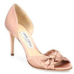 Jimmy Choo Kitty 85 Knotted Satin d'Orsay Pumps $795 thestylecure.com