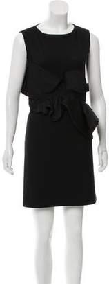 Fendi Ruffle-Trimmed Sleeveless Dress