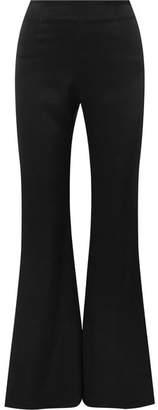 Galvan - Satin Flared Pants - Black