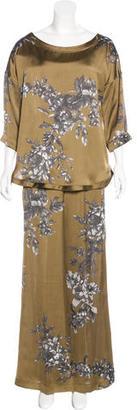 Twin.Set Floral Wide-Leg Pantsuit $150 thestylecure.com