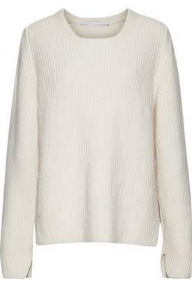 Rosetta Getty Ribbed Wool And Cashmere-Blend Sweater