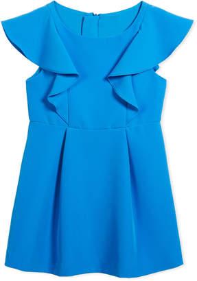 Milly Minis Cady Ruffle Dress, Size 4-7