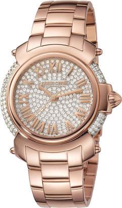 Roberto Cavalli By Franck Muller 40mm Rose Golden Stainless Steel Bracelet Watch
