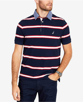 Nautica Men's Striped Classic Fit Polo Shirt