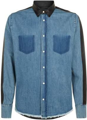 RtA Denim Leather Shirt