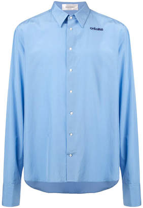 Wales Bonner creolite embroidered shirt blue