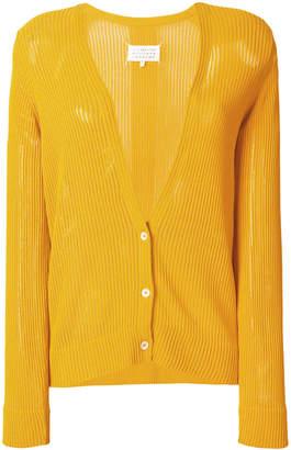 Maison Margiela short ribbed knit cardigan