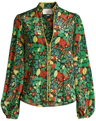 Alexis Minu Linen & Cotton Floral Blouse